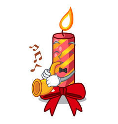 With trumpet christmas candle combined with pita vector