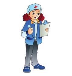 woman nurse vector image