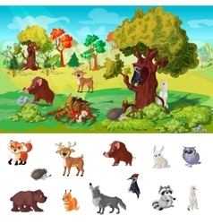 Woodland Animals Concept vector