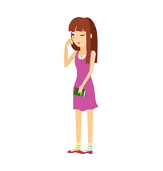young woman in depression flat vector image