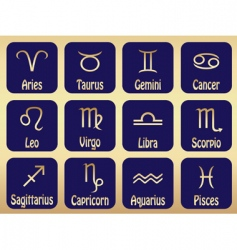 zodiac sign icons vector image