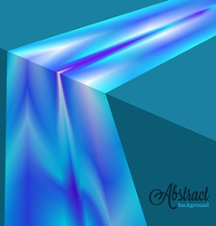 Abstract blurred blue flow background vector image
