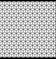 Abstract seamless pattern of lineart cubes vector