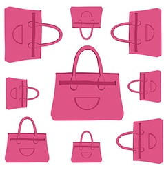 fashion bag pattern vector image