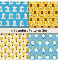 Four Flat Seamless Knowledge School Search and vector image vector image
