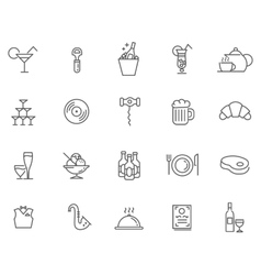 Icon Set For Restaurant Cafe And Bar vector image