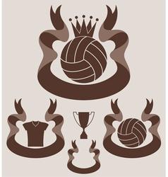Volleybal l Vintage vector image vector image