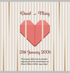 Wedding invitation with abstract background vector