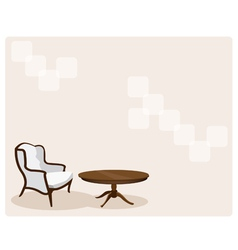 Antique Leather Armchair in Living Room Background vector image vector image