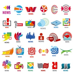 Biggest collection of logos news vector