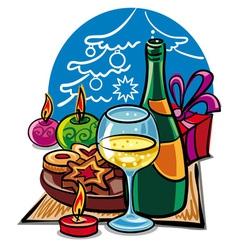 celebration the christmas vector image