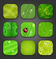 Ecologic backgrounds with leaves texture for the vector image vector image
