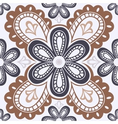 Lace floral seamless pattern vector image vector image