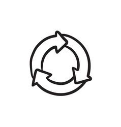 Arrows circle sketch icon vector