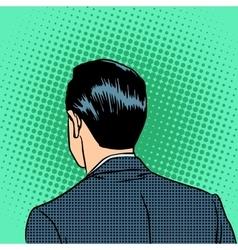 back head businessman vector image vector image