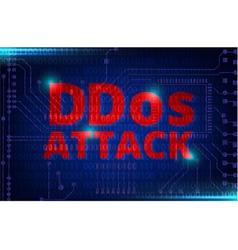 Ddos on a digital binary warning vector