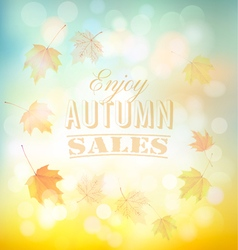Enjoy autumn sales background with colorful leaves vector image vector image