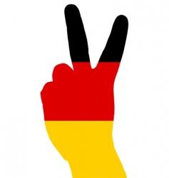 German hand signal vector image vector image