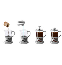 instruction how to make coffee vector image vector image
