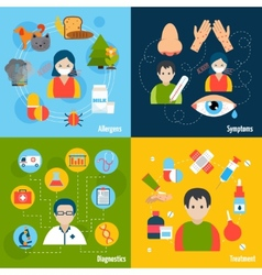 Allergies Icons Set vector image vector image