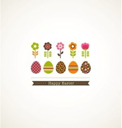greeting card with floweres vector image vector image