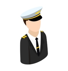 Pilot isometric 3d icon vector image vector image