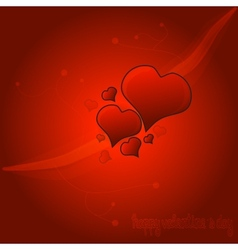 Red Valentine Heart Background vector image