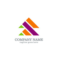 shape arrow logo design vector image