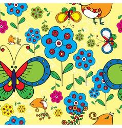 spring floral print vector image