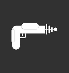 White icon on black background toy gun vector
