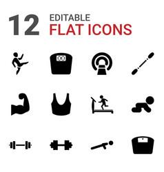 12 body icons vector