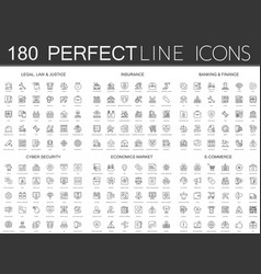 180 modern thin line icons set legal law and vector