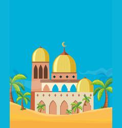 a beautiful mosque landscape vector image