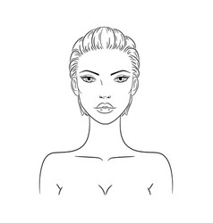 a beautiful young nude vector image
