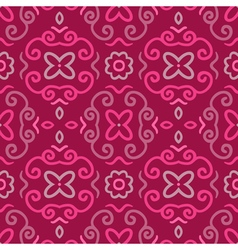Abstract seamless pattern with vintage pink vector image