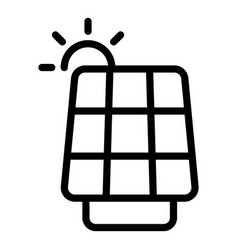 Accessible solar panel icon outline style vector