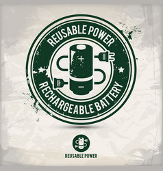 alternative reusable power stamp vector image