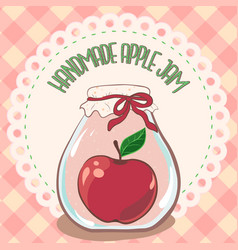 Apple jam label printable jar label template vector