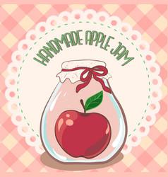 Apple jam label printable jar label template vector
