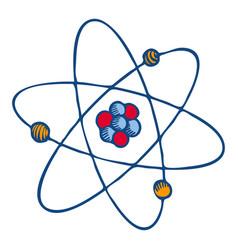atom molecule icon hand drawn style vector image