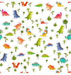 Badino seamless pattern animal dragon and vector