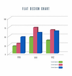 Bar chart info graphics elements design vector