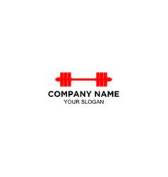 barbel gym logo design vector image