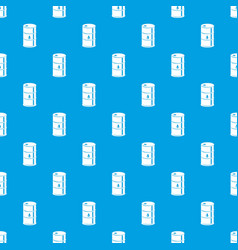 barrel oil pattern seamless blue vector image