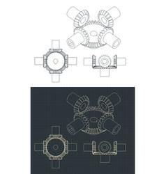 Bevel gear module vector