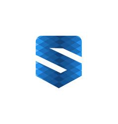 blue letter s modern logo design inspiration vector image