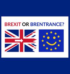 brexit or brentrance smiling europian union flag vector image