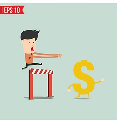 business man trying to catch money vector image