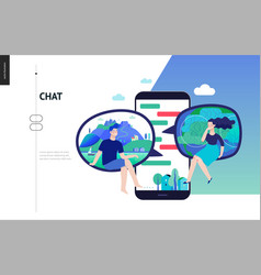 Business series - chat web template vector