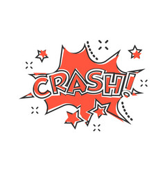 cartoon crash comic sound effects icon in comic vector image